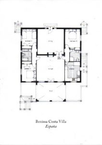 Benissa Costa Villa Floor Plan Alicante